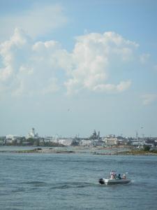 Sicht auf Helsinki von Schiff