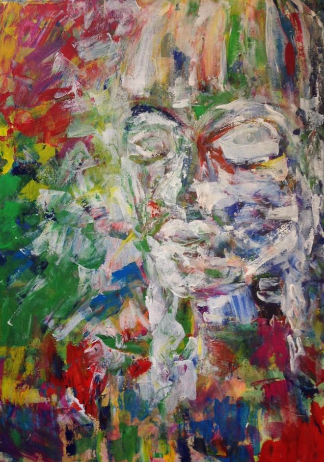 Porträt, 50x70, 2014 Acryl auf Leinwand 150.-