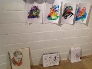 Die Produkte von der Veranstaltung Trinkä u Zeichnä.
